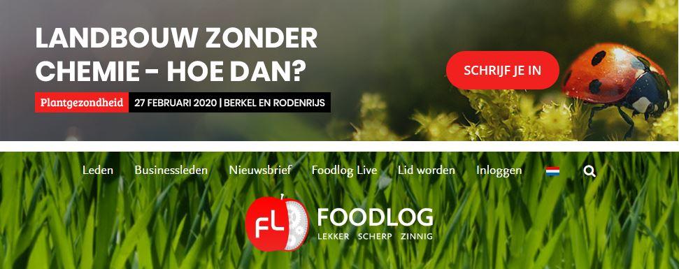 Foodlog congres – Landbouw zonder chemie, hoe dan?